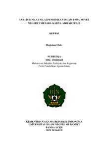 Analisis Nilai Nilai Pendidikan Islam Pada Novel Negeri 5 Menara Karya Ahmad Fuadi Repository Of Uin Ar Raniry