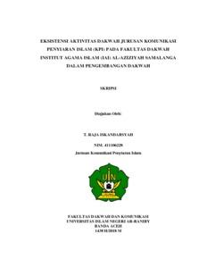 Eksistensi Aktivitas Dakwah Jurusan Komunikasi Penyiaran Islam