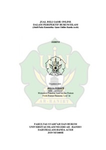 Jual Beli Game Online Dalam Perspektif Hukum Islam Studi Pada Komunitas Game Online Banda Aceh Repository Of Uin Ar Raniry